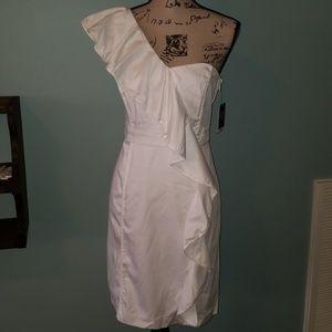 New Vince Camuto One Shoulder Ruffle Sheath Dress